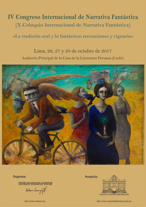"""IV Congreso Internacional de Narrativa Fantástica (X Coloquio Internacional de Narrativa Fantástica). """"La tradición oral y lo fantástico: recreaciones y vigencia"""