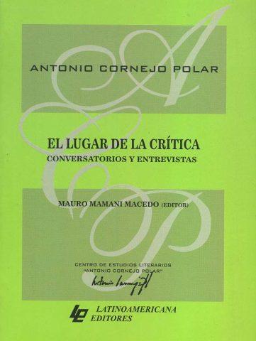 EL LUGAR DE LA CRÍTICA CONVERSATORIOS Y ENTREVISTAS
